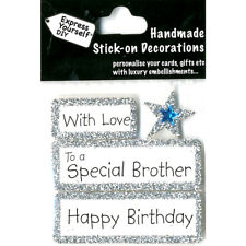 DIY Celebrate-With Love-To A Special Brother-Happy Birthday-Greeting Card Topper
