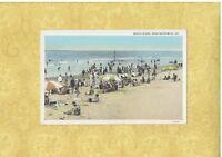 GA Near Brunswick Georgia 1908-39 postcard CROWDED BEACH SCENE