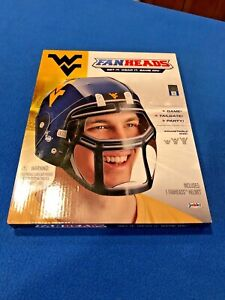 West Virginia University WVU Fan Heads Jakks Pacific Novelty Football Helmet