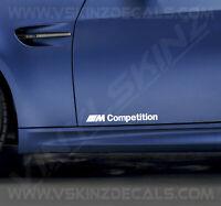2x BMW M Competition Logo Door Decals Stickers Premium Quality 11 Colour Alpina