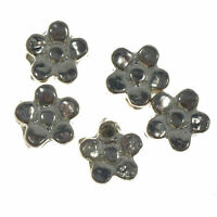 50 Silver Plated Tibetan Metal Flower Spacer Beads 5mm Jewellery Making Craft