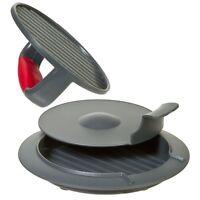 Grey Perfect Burger Press - Progressive Beef Patty Ham Kitchen Maker Set Kit