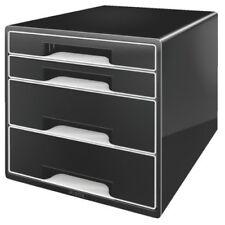 Cassettiere nero da 4 cassetti