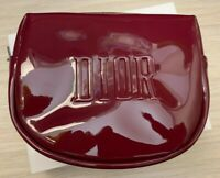 Dior cosmetic bag / pouch bordo with a beautiful glossy overflow NEW in Box RARE