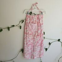 Boho & Co Pink One-Off Vintage Floral Cotton Halter Romper S (Fit S-M) OpenBack