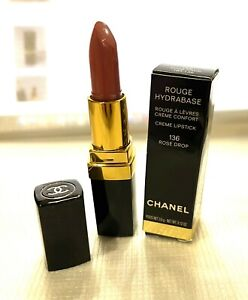 CHANEL Rouge Hydrabase Creme Lipstick #136 Rose Drop Rare New