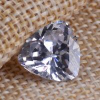 Unheated Sapphire 12mm Trillion Cut White Color Sapphire Loose Gemstone 12x12mm