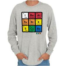 I Beat Rubik's Cube Funny Science Nerd Puzzle  Long Sleeve T-Shirts Tees For Men