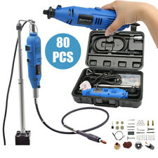 Dremel Variable Rotary Speed Tool Power Electric Kit Corded 135w Mini Drill 80Pc