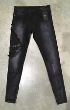Golden Denim Tapered Distressed Rose Jeans In Black Sz. 30 100% Authentic