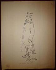 Paul Colin dessin encre sur papier signée circa 1943 militaire je suis du 16 iem