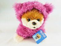 "Gund World's Cutest Dog Boo Fuzzy Pink Jacket Stuffed Animal Plush 9"""