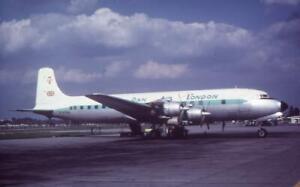 35mm Aircraft Slide Dan Air London Airline G-ATAB Douglas DC-7C