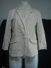 Country Road Ladies Jacket in a Beige Embossed Cotton Fabric Size M