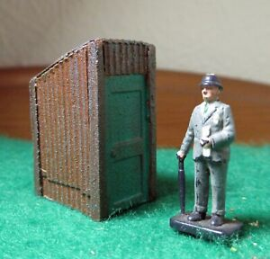 Corrugated iron privy hut - OO Gauge/1:76 scale model railway accessory- Painted