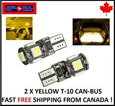 2PCS T10 YELLOW 194 168 1W 5SMD LED No Error Canbus Side Lamp Wedge Light Bulb1W