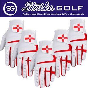 SG Men Cabretta Leather Golf gloves England Scotland Logo Get Pack of 5 / 3 or 1