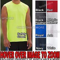 Jerzees Mens Sleeveless Tank Top Moisture Wicking T-Shirt Shooter S-XL 2XL 3XL