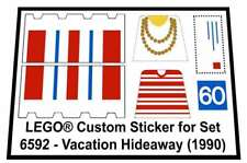 Lego® Custom Sticker for Classic Town Building 6592 - Vacation Hideaway (1990)