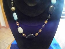 "Lia Sophia Gold with Multi-colored Beads ""Lagoon"" Necklace 38-41 in. NEW"