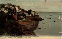 Dinard Frankreich Bretagne AK 1910 Quartier Bric á Brac Hafen Harbor Carte P.