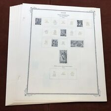 SAAR FRENCH ADMINISTRATION 1947-55 SCOTT SPECIALTY Stamp Album Pages - Complete
