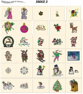 XMAS 3. CD or USB machine embroidery designs files most formats pes etc holidays