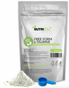 NVS 100% PURE L-TAURINE AMINO ACID POWDER USP GRADE MUSCLE ENERGY USA NONGMO