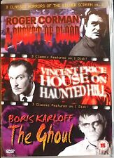 A BUCKET OF BLOOD.  HOUSE ON HAUNTED HILL. THE GHOUL. NEW DVD. REGION 0.