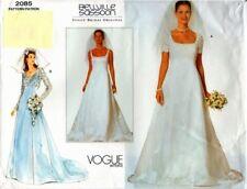 VOGUE 2085 OOP Bellville Sassoon Bridal Gown 6-8-10