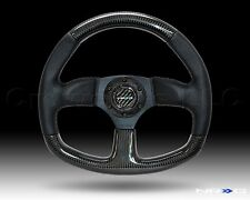 NRG Steering Wheel 09 Black Perforated Leather Carbon Fiber Black Stitch 320 mm