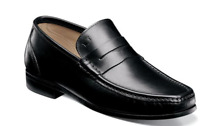 Men's Shoes Florsheim Puente Moc Toe Penny Loafer Italian Black 52388-A01