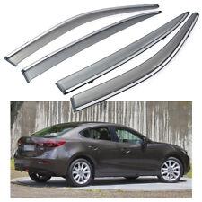 4Pcs Car Window Visor Vent Shade Deflector Sun/Rain for Mazda 3 Sedan 2014-2018