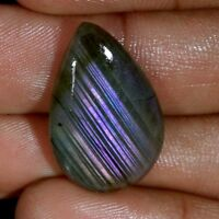 100% Natural Purple Fire Spectrolite Labradorite Pear Cabochon Loose Gemstone J2