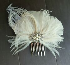 Bridal Fascinator, ivory Hair Clip, Wedding Headpiece, ivory Fascinator, Hair Cl