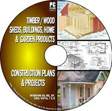 OVER 1000  DIY WOOD PLANS & PROJECTS HOUSES SHEDS WOODEN BUILDINGS Etc PC CD NEW