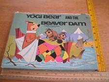 Yogi Bear and the Beaver Dam pop-up book 1974 Hanna Barbera HTF