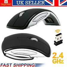 2.4GHz Cordless Wireless Mouse Foldable Optical Scroll for PC Laptop + USB Stud
