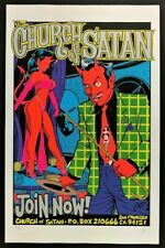 Church Of Satan Silver POSTER Silkscreen Limited Edition Signed Numbered Coop