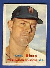 1957 Topps Baseball Karl Olson #153 Washington Senators EX