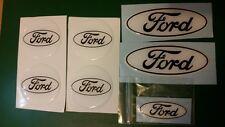 Ford fiesta mk7.5 St Gel superposición abovedado insignias, Blanco/Negro 7 Set,