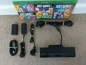 KINECT SENSOR FOR XBOX ONE + POWER ADAPTER + 3 GAMES