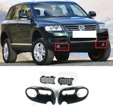 FOR VW TOUAREG 02-06 FRONT BUMPER FOG LIGHTS GRILLE WITH MESH PART PAIR SET