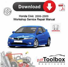 Honda Civic 2006-2009 servicio de reparación Taller Manual Pdf descarga digital