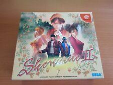 SEGA DREAMCAST SHENMUE II 2 NTSC JAP JAPAN LIMITED EDITION