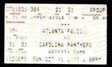Football Ticket Carolina Panthers 1999 10/31 Atlanta Falcons