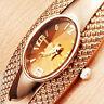 Beauty Women's Girl's Fashion Bronze Bracelet Bangle Crystal Wrist Watch Magic