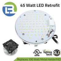 45 Watt DLC Listed RPK Plate Type Retrofit Kit for 100W HID 5,130 Lumens 5000K