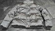 NWT H & M WOMENS PUFFER JACKET SILVER GRAY 8