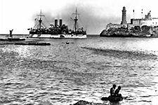New 5x7 Spanish-American War Photo: USS MAINE Entering Havana Harbor, 1898